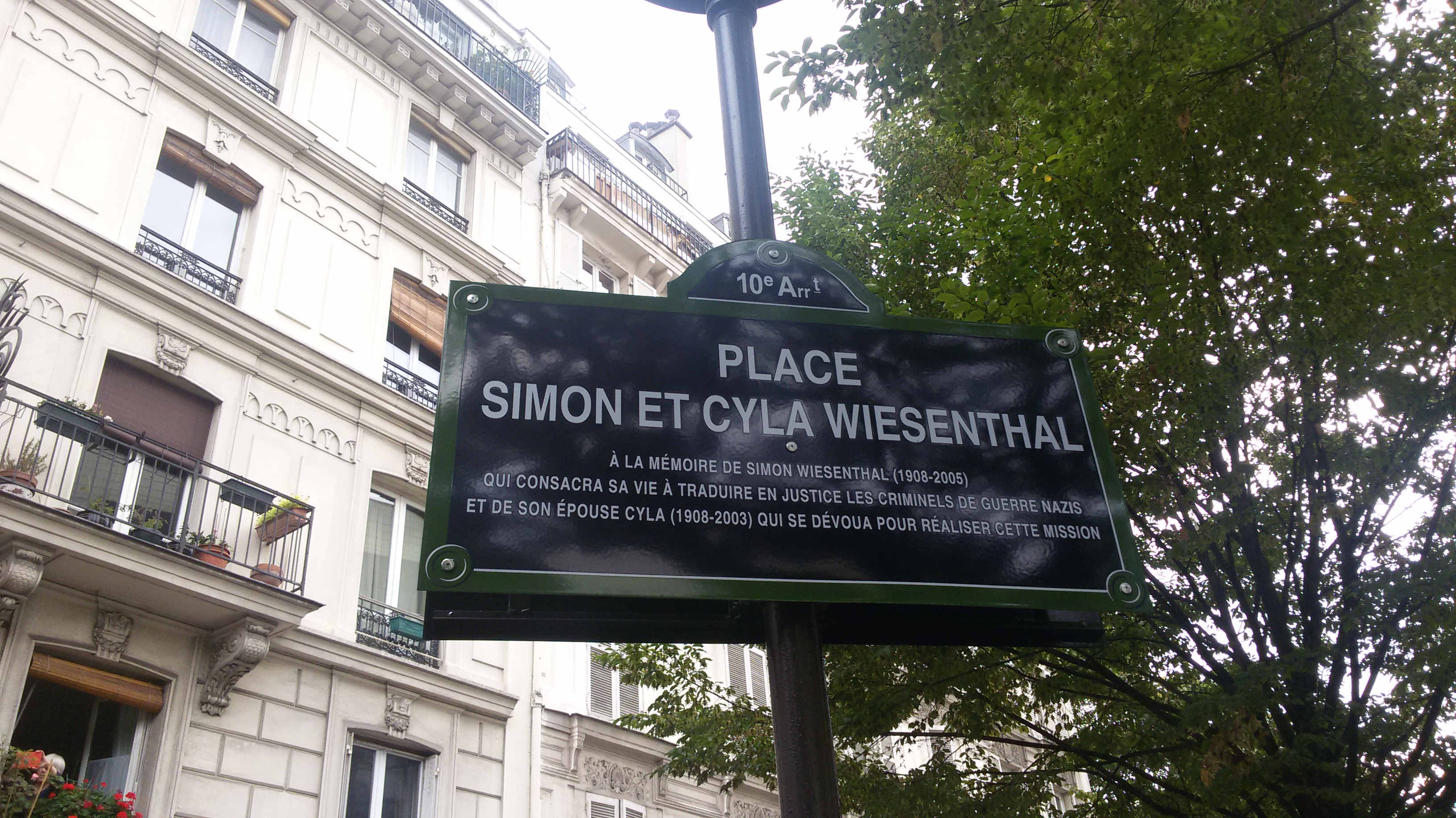Inauguration Place Simon et Cyla Wiesenthal